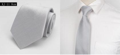 Cravata barbati eleganta argintie fata