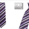 Cravata barbati mov cu dungi oblice fata