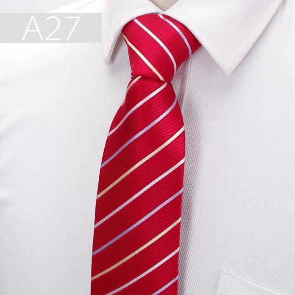 Cravata barbati rosie cu dungi albe