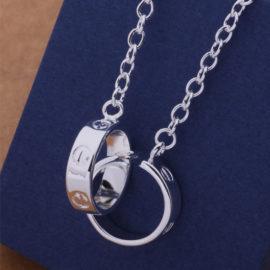 Lantisor argint pandantiv inel