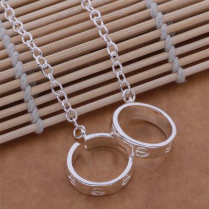 Lantisor argint pandantiv inel fata