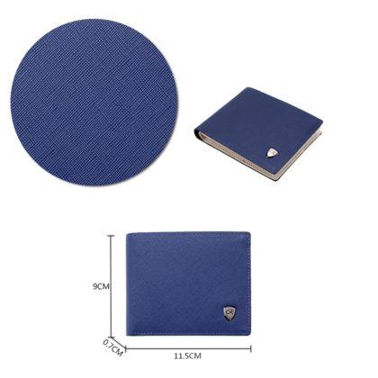 Portofel elegant barbati albastru R dimensiuni