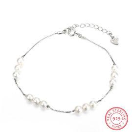 Bratara argint 925 eleganta cu perle
