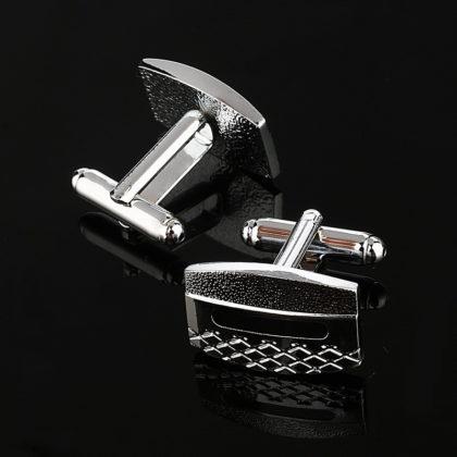butoni-eleganti-rectangulari-argintii profil