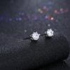 Cercei eleganti argint 925 mici zirconiu fata
