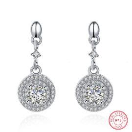 Cercei eleganti argint 925 placati platina