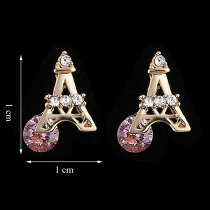 Cercei placati aur mici Turnu Eiffel dimensiuni