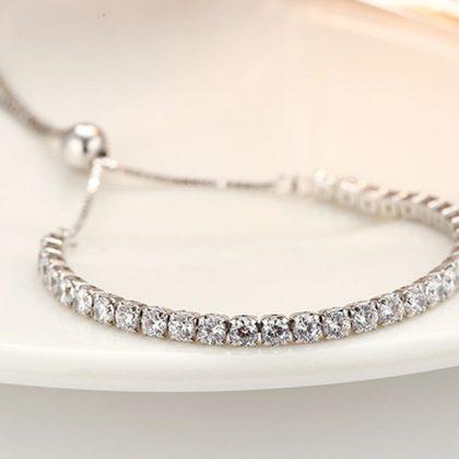 Bratara eleganta argint 925 cristale zirconiu fata