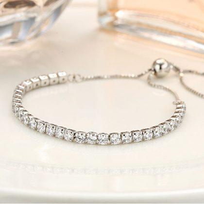 Bratara eleganta argint 925 cristale zirconiu sus