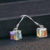 Cercei argint 925 cristale zirconiu deosebite fata