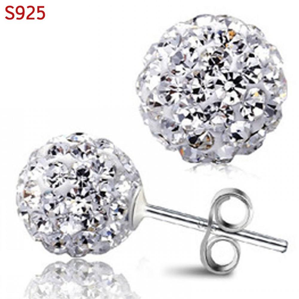 Cercei cristale bile argint 925 Sun Dazzle
