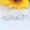 Cercei mici argint 925 cu floricele si zirconiu sus