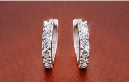 Cercei mici argint 925 cu pietre zirconiu zirconiu