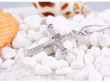 Colier pandantiv cruciulita argint 925 sus