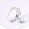 Inele cuplu argint 925 ajustabile fata