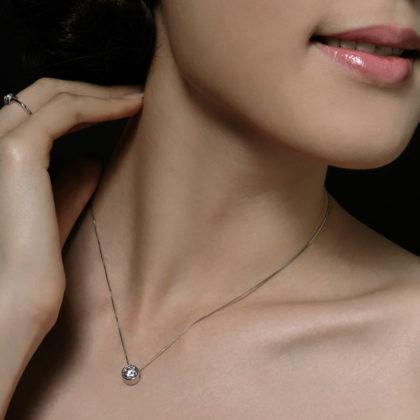 Lantisor argint 925 cristal zirconiu model