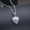 Lantisor argint 925 inimioara cristale mov fata
