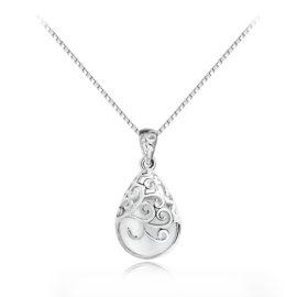 Lantisor argint 925 pandantiv cuart alb
