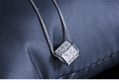 Lantisor argint 925 pandantiv cub fata
