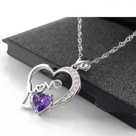 Lantisor argint 925 pandantiv inimioara Love