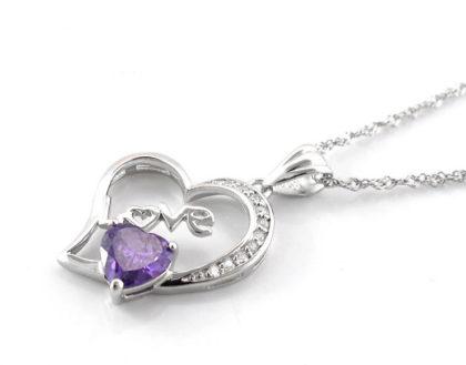 Lantisor argint 925 pandantiv inimioara Love sus