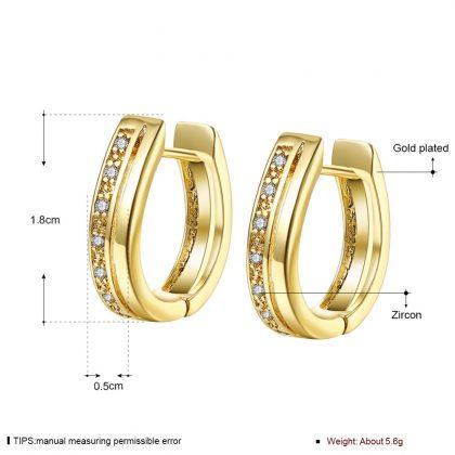 Cercei deosebiti placati aur cu zirconiu detalii