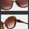Ochelari de soare imprimeu leopard si cristale detalii
