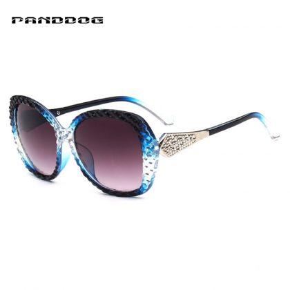 Ochelari de soare rame albastre cu cristale