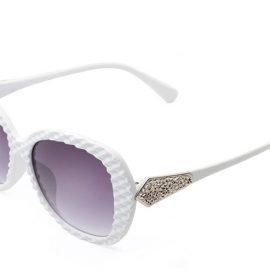 Ochelari de soare rame albe cu cristale