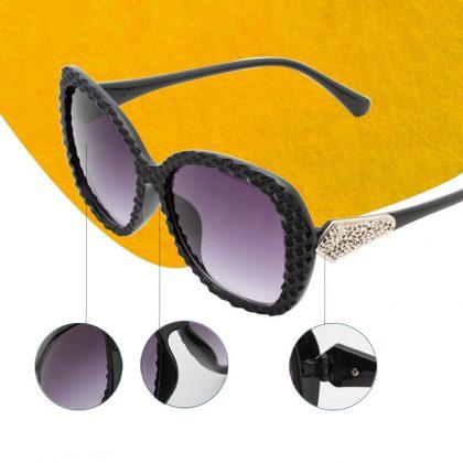 Ochelari de soare rame negre cu cristale detalii