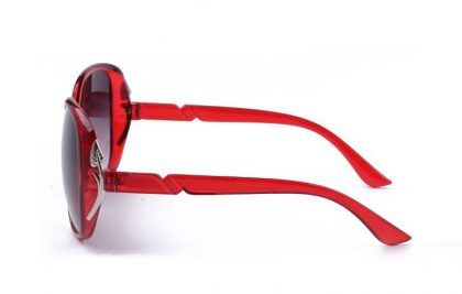 Ochelari vintage Panddog rame rosii profil
