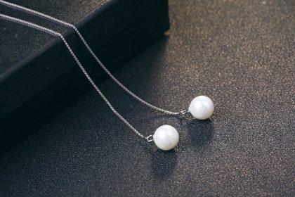 Cercei lungi argint 925 cu perle profil