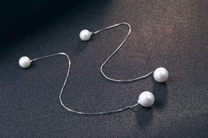 Cercei lungi argint 925 cu perle sus