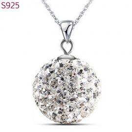 Colier argint 925 pandantiv sfera cu zirconiu
