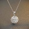 Colier argint 925 pandantiv sfera cu zirconiu fata