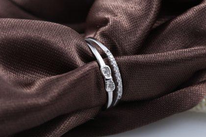 Inel ajustabil argint 925 fundita cu zirconiu fata