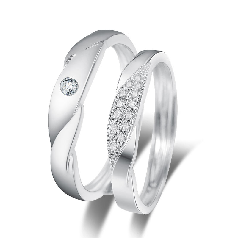Inele cuplu argint 925 ajustabile Damila