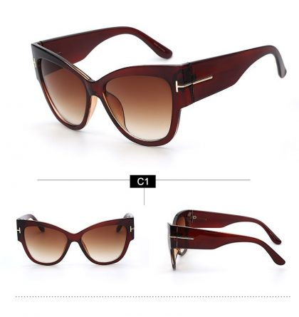 Ochelari de soare rame late maro ProudDemon profil