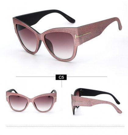 Ochelari de soare rame late roz ProudDemon profil