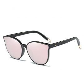 Ochelari de soare rame negre lentile roz