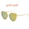 Ochelari de soare rame si lentile aurii ProudDemon profil