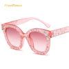 Ochelari de soare roz inserati cu cristale