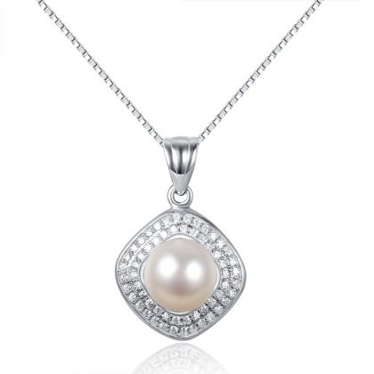 Set argint 925 colier si cercei eleganti cu perle naturale colier