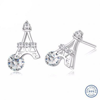 Cercei argint 925 mici Turnu Eiffel