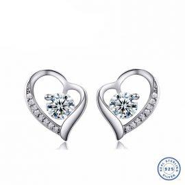 Cercei mici eleganti argint 925 inimioare