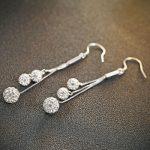 Cercei argint 925 trei bilute Shamballa
