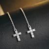 Cercei lungi argint 925 cruciulita fata