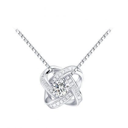Set argint 925 colier, cercei si inel zirconiu colier