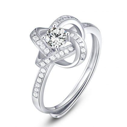 Set argint 925 colier, cercei si inel zirconiu inel