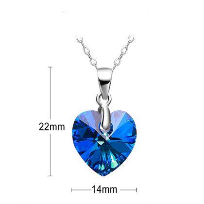 Set argint 925 colier si cercei cristale albastre colier